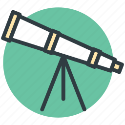 astronomy, education, scope, spyglass, telescope icon