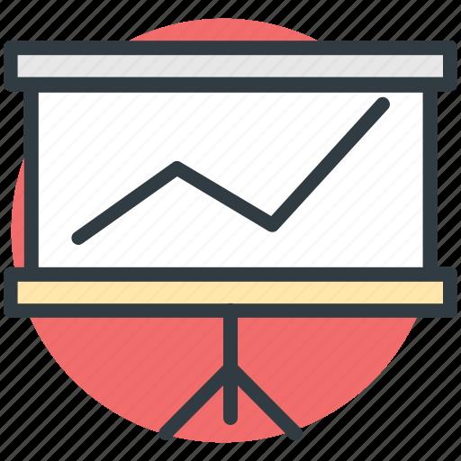 analysis, business presentation, chart, presentation, statistic icon