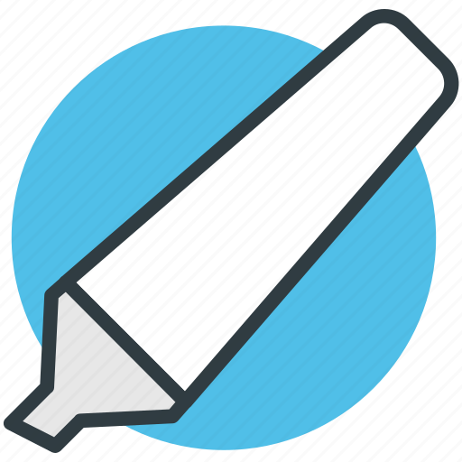 highlighter, highlighter pen, marker, stationery, underline icon