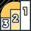 leaderboards, medal rostrum, podium, prize stage, sports podium