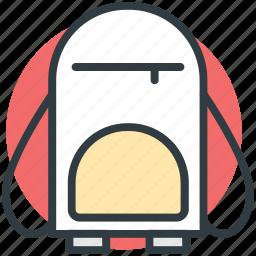 backpack, bag, book bag, school bag, school supplies icon