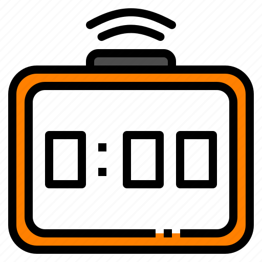 alarm, bell, clock, digital, time icon