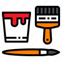 art, brush, bucket, color, paint icon