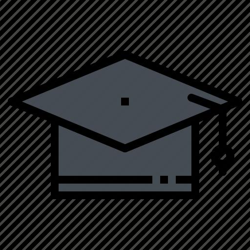 cap, certificate, education, graduate, hat icon