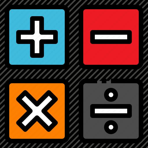 education, learn, mark, math, study icon