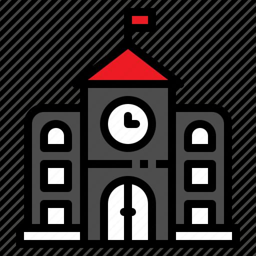 building, education, learn, school, study icon
