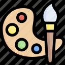 art, art and design, artist, artistic, paint, painting, palette