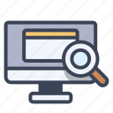 search, internet, computer, data, education icon