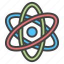 atom, chemical, chemistry, education, matter, school, science icon
