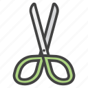arts, cut, cutting, education, school, scissors, tool icon