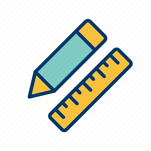 draw, pencil, pencil and ruler, ruler icon