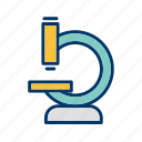 experiment, laboratory, microscope, science icon