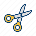 barber, cutting, scissor icon