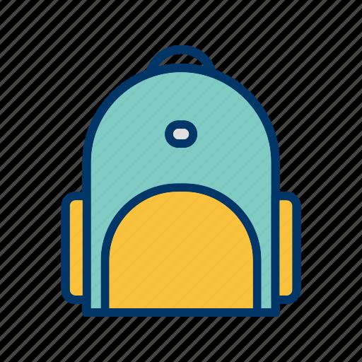 bag, briefcase, school bag, student icon
