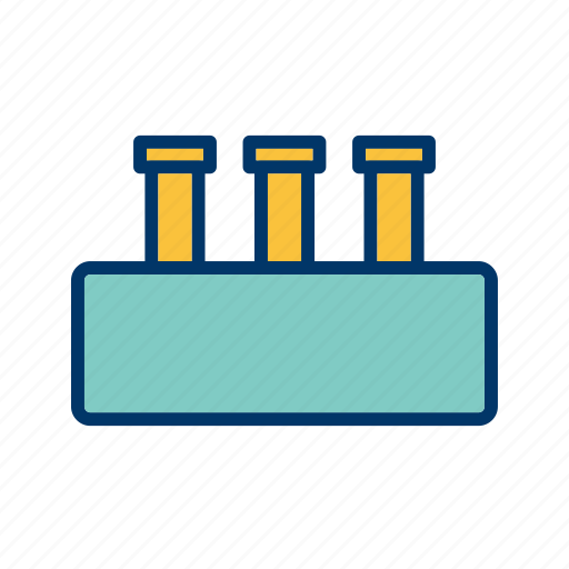 flask, laboratory, research, test tube icon