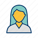 avatar, female student, student, user icon