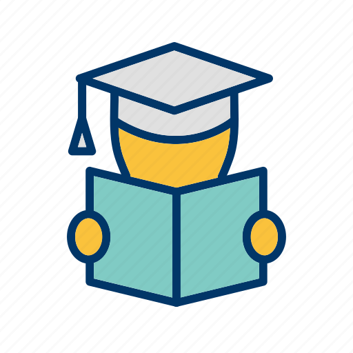 education, learning, reading, student icon