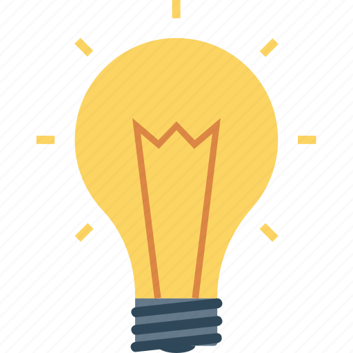 energy, idea, light, light bulb icon icon