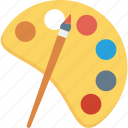 artist, paint, paintbrush, painting, paints, palette icon icon