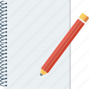 notepad, office, pen, writing icon icon