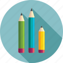 design, draw, drawing, graphic, pen, pencil, pencil set, pencils, pencils pack, set of pencils icon