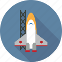 boost, energy, launch, power, rocket, rocket launch, space, spaceship icon