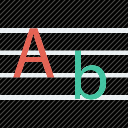 alphabet, font icon icon