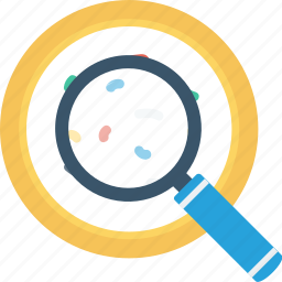 biology, dna, research, science, search icon icon