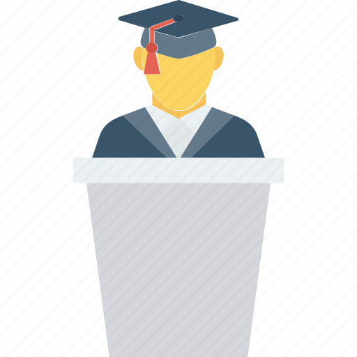 Graduate, speech, student icon icon - Download on Iconfinder