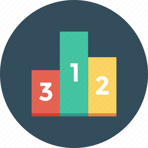 blocks, counting, podium, winners, winners podium icon icon