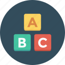 abc, abc blocks, alphabet, alphabet blocks, blocks, cubes icon