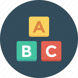 abc, abc blocks, alphabet, alphabet blocks, blocks, cubes icon icon