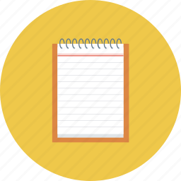 note, notepad, pad icon, paper, white paper, workbook icon