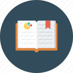 book, mark, notebook, online, schedual book, school icon icon