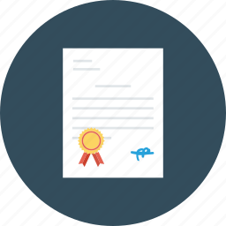 certificate, contract, degree, diploma, document, license, patent icon icon
