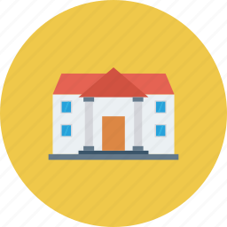 building, education building, school, school building icon icon