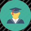 education, graduate, graduation, student icon