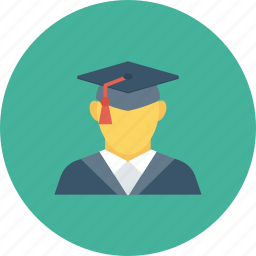 education, graduate, graduation, student icon icon