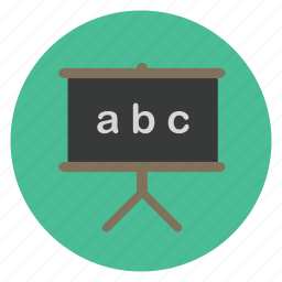 black board, board, education, language, science, study, teaching icon