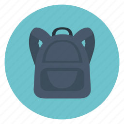 back pack, bag, education, science, study, teaching icon