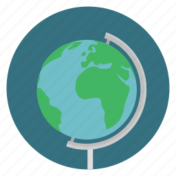 education, geography, globe, science, study, teaching icon