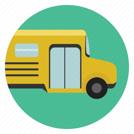 bus, education, school bus, science, study, teaching, transportation icon
