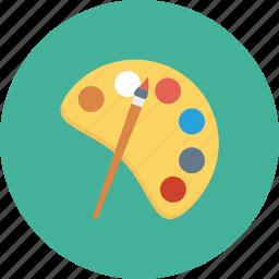 artist, paint, paintbrush, painting, paints, palette icon icon