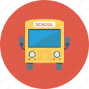 bus, school bus, travel, vehicle icon icon