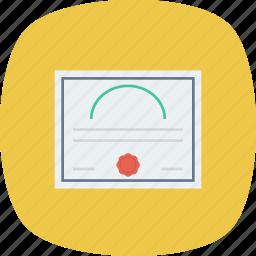 certificate, diploma, license, patent icon icon