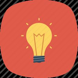energy, idea, light, light bulb icon icon