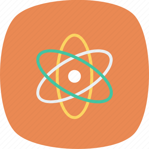 atom, chemistry, education, experiment, laboratory, physics, science icon icon