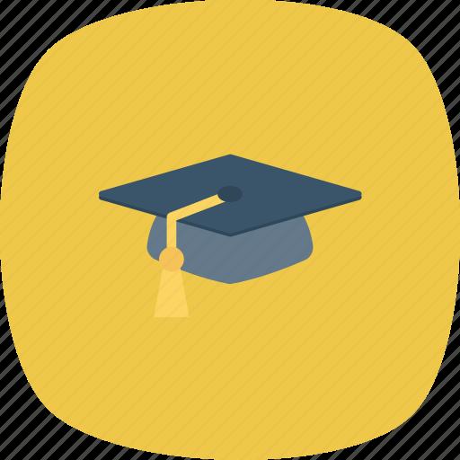 cap, graduation, online, school icon icon
