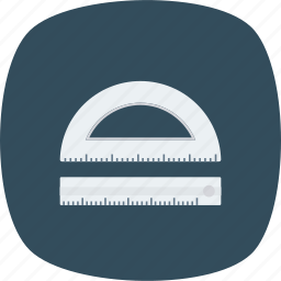 design, drawing, math, semicircle icon icon