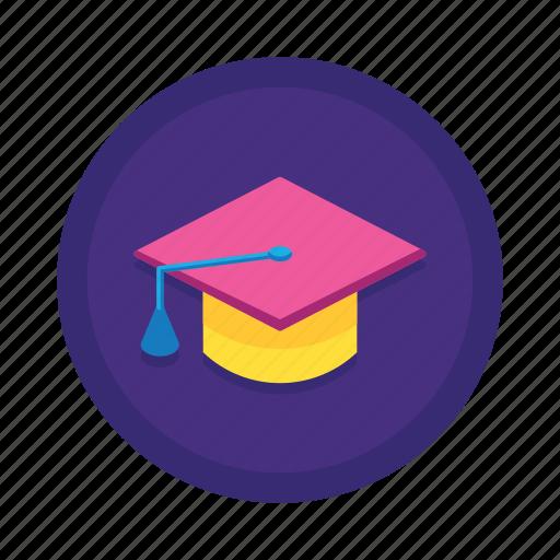 graduate, graduation, graduation hat, hat, student icon